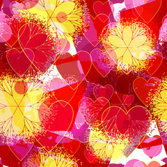 """Decorative patterned texture """"Valentine's Day"""""""
