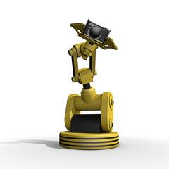 Robot neemt foto van jou