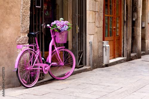 Fototapeta pink bike