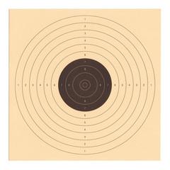 Cible de tir en carton
