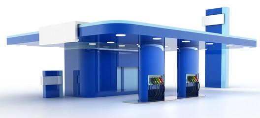 Gas station, original three dimensional models.