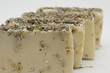 set of handmade soap with lavender flowers and oatmeal grains - 81221166