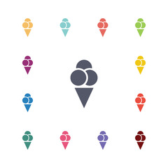 ice cream flat icons set