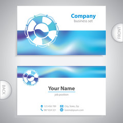business card - Lifebuoy symbol - marine Equipment - company pre