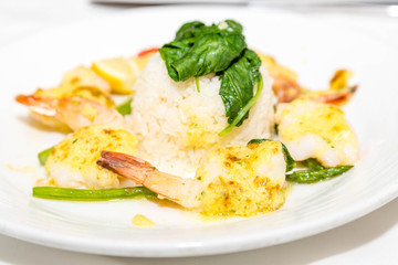 Shrimp Scallop and Rice Appetizer