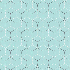 Vector Retro Hexagon Pattern Illustration