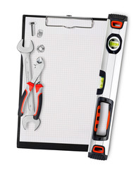 Clipboard with tools
