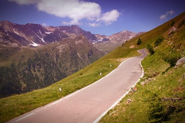 Italy nature - road in Stelvio National Park
