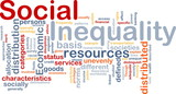 Social inequality wordcloud concept illustration poster