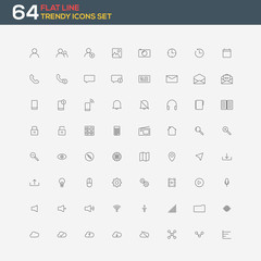 Universal modern thin line icons for web and mobile