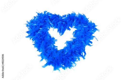 Leinwandbild Motiv Blue heart