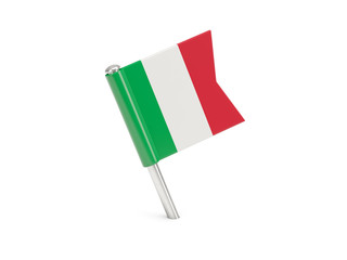 Flag pin of italy
