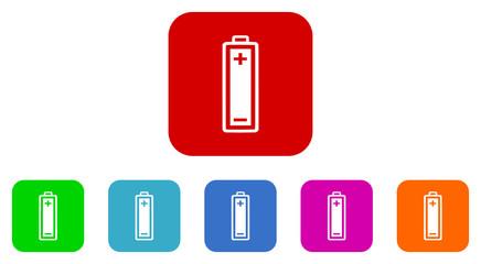 battery vector icon set