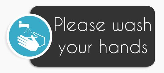 Etiquette Lavez vos main