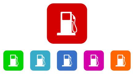 fuel vector icon set