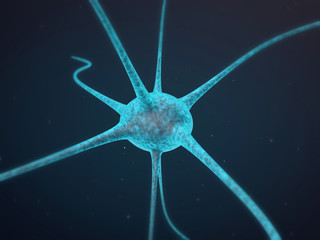 Nerve Cell 3D Render Illustration