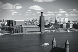 Stockholm skyline. Black and white.