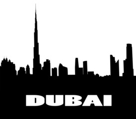 silhouette of the Dubai