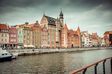 views of the waterfront in Gdansk