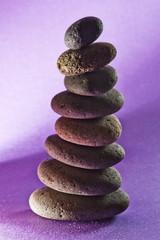 eight  stones in the sand,black-ground purple