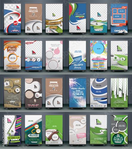 Zdjęcia na płótnie, fototapety, obrazy : Mega Collection of Roll Up Banner Design
