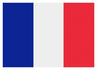 Flagge Frankreich mit Leineneffekt