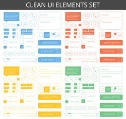 Clean minimalistic elements for web and mobile