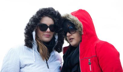 Two Women in Hood