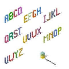 Cubes Isometric Perspective Alphabet