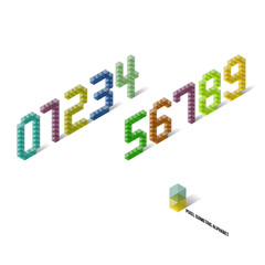 Pixel Isometric Perspective Numbers
