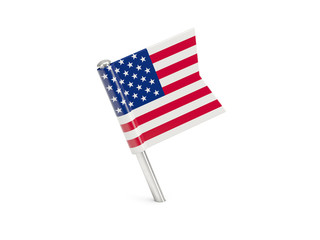 Flag pin of united states of america