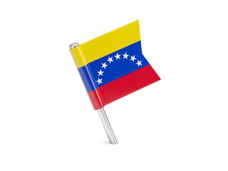 Flag pin of venezuela