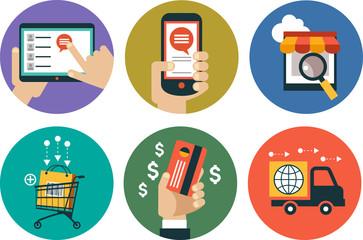 infographics background E-commerce