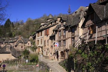 Conques en Aveyron une rue tranquille