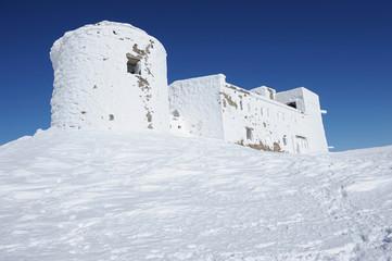 Abandoned observatory in Ukrainian Carpathians