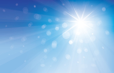 Vector blue sky and sun shine.