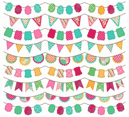 Collection of Bright and Colorful Wedding, Holiday, Birthday or