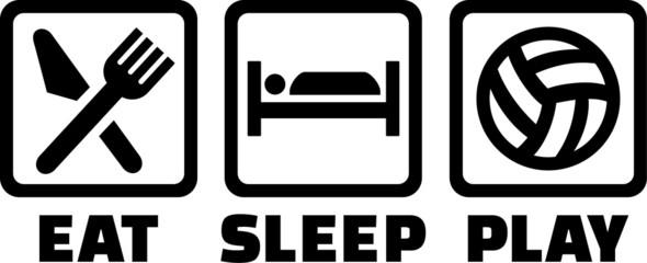 Volleyball Eat Sleep Play