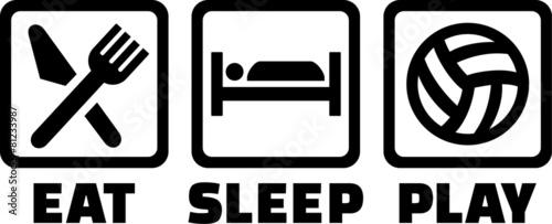 Volleyball Eat Sleep Play - 81233987
