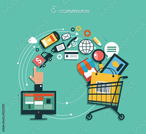 Zdjęcia na płótnie, fototapety, obrazy : infographics background E-commerce