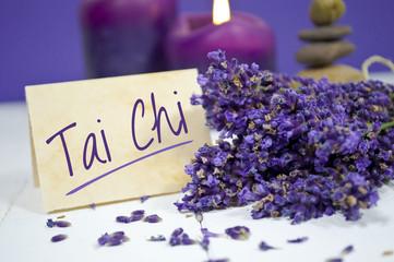 Lavendel mit Tai Chi