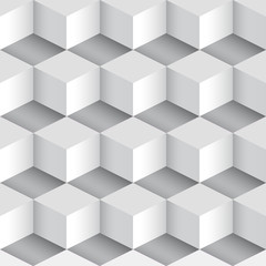 seamless abstract background with cube motive