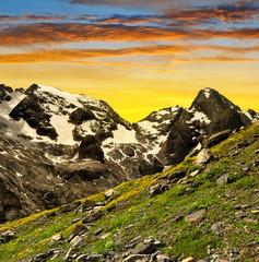 Marmolada peak at sunset ,Val di Fassa - Italy Alps