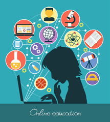 Infographic design of education