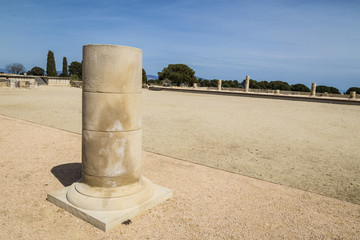Roman columns ruin