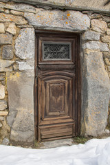 Ancient closed and forgotten doorway