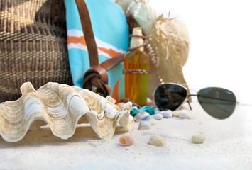 bénitier et accessoires de plage