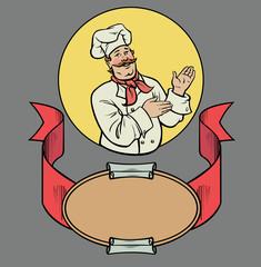 Chef in retro style
