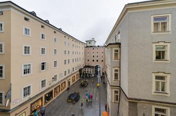 Hagenauer Square in Salzburg, Austria