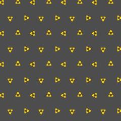 Nahtloses skalierbares Muster mit abstraktem orangen Symbol